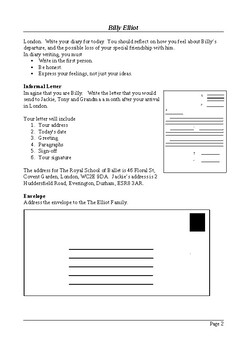 Billy Elliot - Writing and Research Extension Assignments