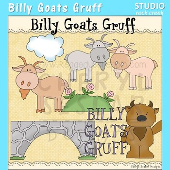 Billy Goat Gruff Nursery Rhyme Clip Art C Seslar