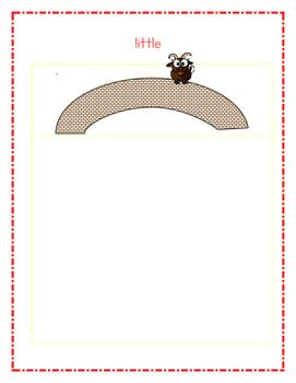 Billy Goat's Gruff Size Sort File Folder Activity