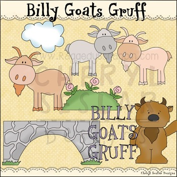 Billy Goats Gruff !NO LICENSE REQUIRED CLIPART COLLECTION~