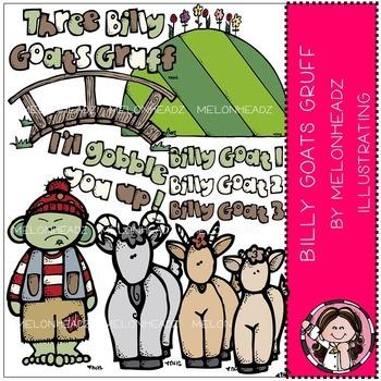 Melonheadz: Billy Goats Gruff clip art - COMBO PACK