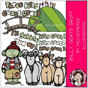 Billy Goats Gruff clip art - COMBO PACK- by Melonheadz
