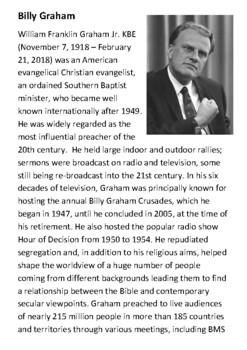 Billy Graham Handout