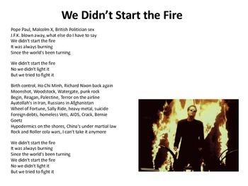 Billy Joel: We Didn't Start the Fire