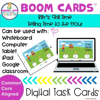 Billy's Grill Time Telling Time to the Hour Boom Cards