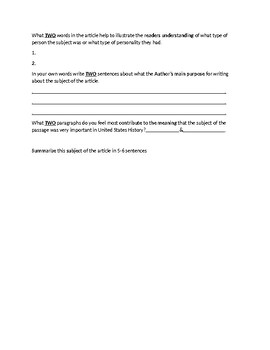 Billy the Kid Article and Assignment