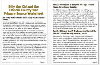 Billy the Kid and the Lincoln County War Lesson Plan Collection