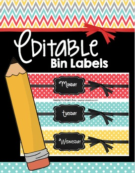 Bin Labels - EDITABLE - Chalkboard Tags - File - Centers - Mailboxes