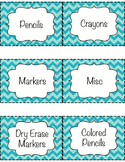 Chevron Bin Labels - Editable