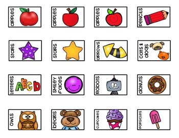 Mini Eraser Bin Labels