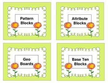 Bin Labels for Supplies-Light Green Background