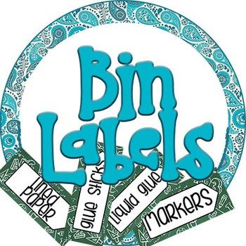 Bin Supplies Labels