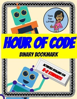 Hour of Code Binary Bookmarks