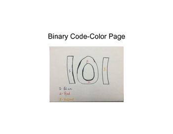 Binary Code- Color Page