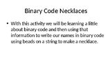 Binary Code Necklace instructions