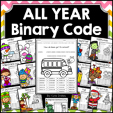 Binary Code STEM Activities - All Year Bundle