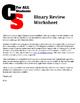 Binary Decoding & Encoding Worksheet