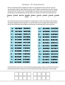 Binary ID Bracelets