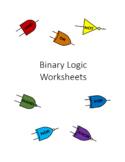 Binary Logic Worksheets