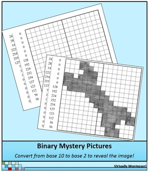 Binary Numbers Mystery Pictures