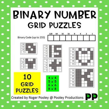 Binary Number Grid Puzzles - FREE