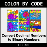 Binary Numbers - Color by Code / Coloring Pages - Ocean