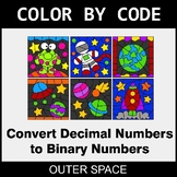 Binary Numbers - Color by Code / Coloring Pages - Outer Space