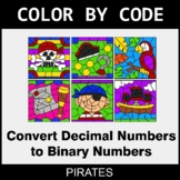 Binary Numbers - Color by Code / Coloring Pages - Pirates