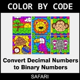 Binary Numbers - Color by Code / Coloring Pages - Safari