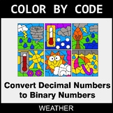 Binary Numbers - Color by Code / Coloring Pages - Weather