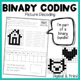 Binary Picture Coding/Decoding Puzzles: {Print & Digital}