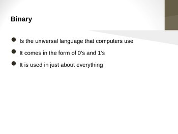 Binary PowerPoint - Everything You Need