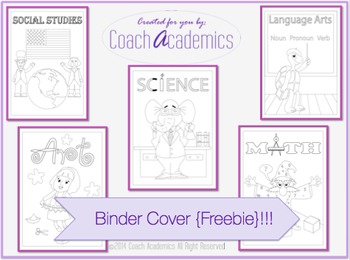 Binder Cover by Subject {Freebie}