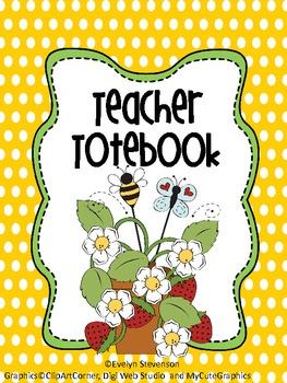 Binder Berry Bee-Lightful Teacher Totebook