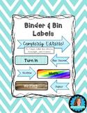 Binder & Bin Labels {editable}