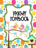 Binder Birds of a Feather Teacher Totebook