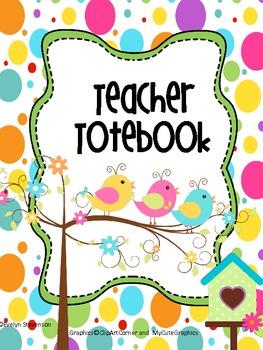 Binder Birds of a Feather Teacher Totebook