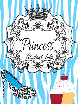 Binder Blue Pretty Princess Teacher Totebook