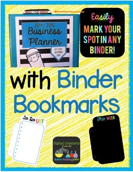Binder Bookmarks FREEBIE