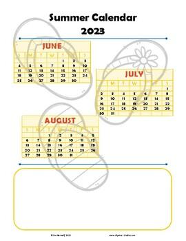 Binder Calendar for Summer