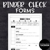 Binder Check Form