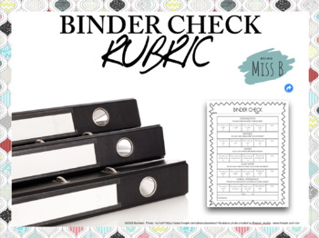 Binder Check Rubric