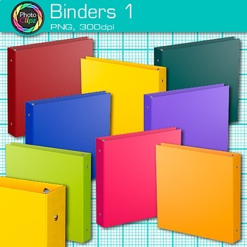 School Binder Clip Art {Back to School Supplies for Classroom Resources} 1