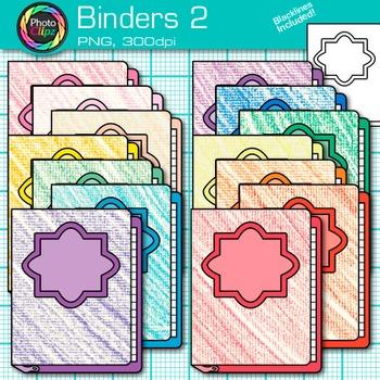 School Binder Clip Art {Back to School Supplies for Classroom Resources} 2