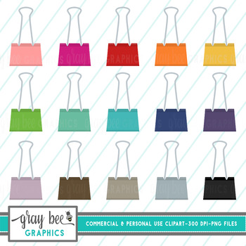 Binder Clip- Clip Art Pack