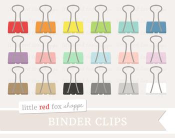 Binder Clip Clipart; Office Supplies