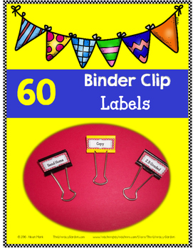 Binder Clip LABELS