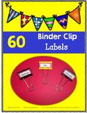 Binder Clip LABELS