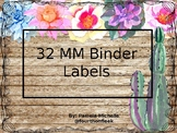 Binder Clip Labels 32 mm