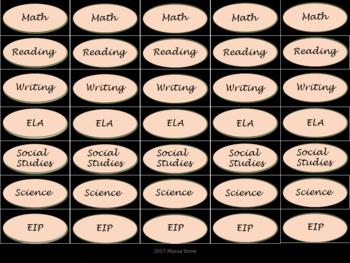 Binder Clip Labels - Black & Pink - lowercase